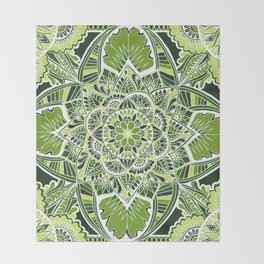 Green Serenity Throw Blanket