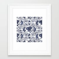 snake Framed Art Prints featuring SNAKE by DIVIDUS