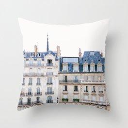 Tres Paris - Travel, Architecture Photography Throw Pillow