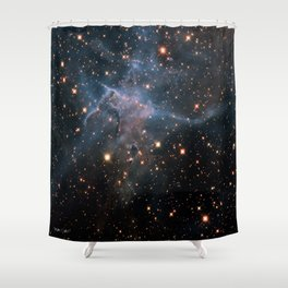 Mystic Mountain Nebula Shower Curtain