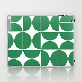 Mid Century Modern Geometric 04 Green Laptop & iPad Skin