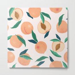 Still Nature Peaches Metal Print