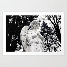The angels pray Art Print