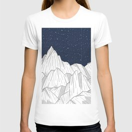 The white mountains under the stars T-shirt