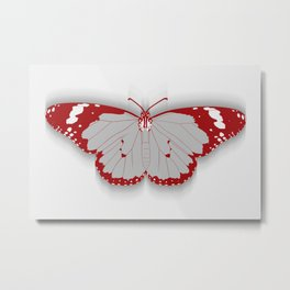 Frail Butterfly Metal Print