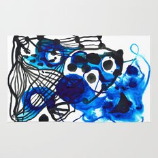 Paint 5 abstract minimal modern painting trendy bold painterly dorm college urban apartment decor Rug