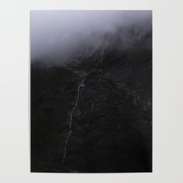 Mountain Series - Milford Sound Waterfall Poster