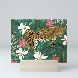 Leopard Jungle Green Mini Art Print