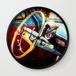 Vintage Car Interior Color Wall Clock