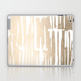 White Gold Sands Bamboo Stripes Laptop & iPad Skin
