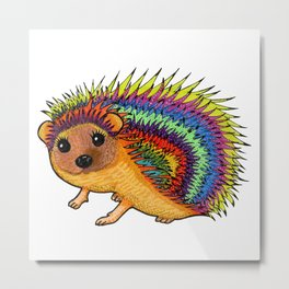 Miss Harriet Hedgehog Metal Print
