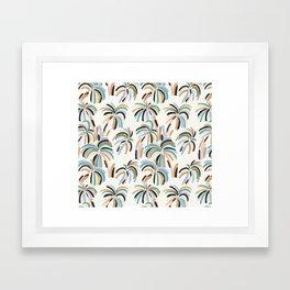 Rainbow Palm Framed Art Print
