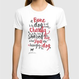 """Jack London on Charity - or """"a bone to the dog"""" Illustration, Poster, motivation, inspiration quote, T-shirt"""