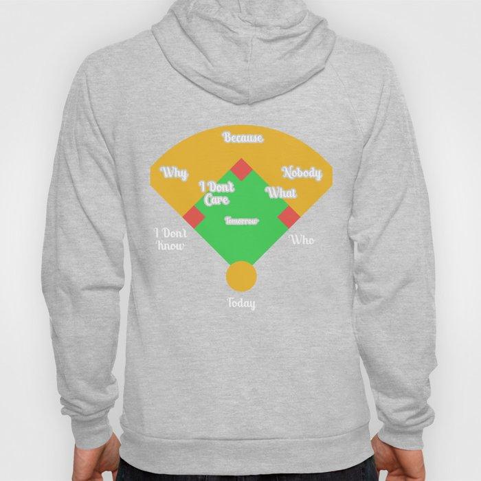 Who's on First? Baseball Diamond Fielding Card Hoody