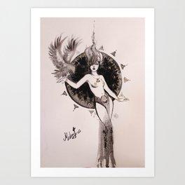 Hawk Lady Art Print