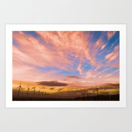 0278 Southern California Desert Sunsets Art Print