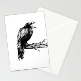 "Collection "" Nightmares"" impression ""Black Raven II"" Stationery Cards"
