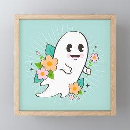 Flower Ghost Framed Mini Art Print
