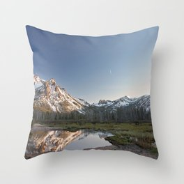 Reflections in Stanley, Idaho Throw Pillow