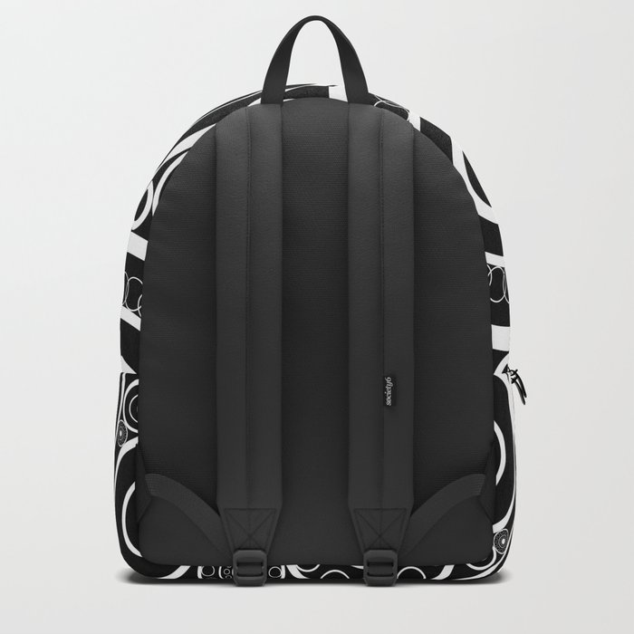Abstract black and white pattern. Backpack