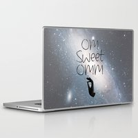 om Laptop & iPad Skins featuring OM by Surya