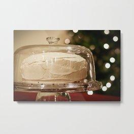 Christmas Cake & Christmas Tree Metal Print