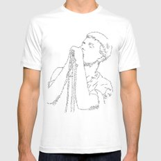 Ian Curtis WordsPortrait White LARGE Mens Fitted Tee