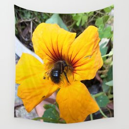 Black bee Wall Tapestry