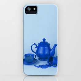 Blue tea party madness - still life iPhone Case
