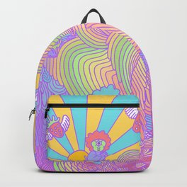 Cotton Candy Cyclops Dream: Rainbow Sorbet (4 of 4) Backpack