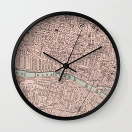Vintage Map of Glasgow Scotland (1901) Wall Clock