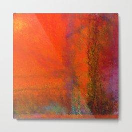 Orange Study #3 Digital Painting Metal Print