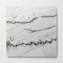 Nordic White Metal Print