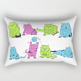 Fluro Cats Rectangular Pillow