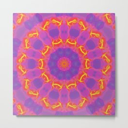 Orange, Pink, and Purple Kaleidoscope Metal Print