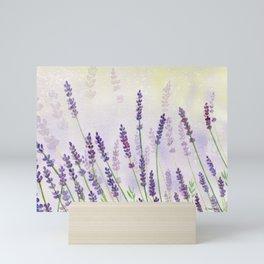 Lavender Flowers Watercolor Mini Art Print
