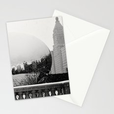 A Snowy Chicago Bean Stationery Cards