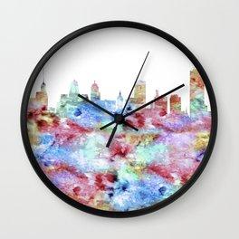 Buffalo Skyline New York Wall Clock