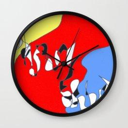 Sliding in to Third: Tim Koss          by Kay Lipton Wall Clock