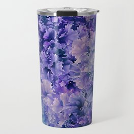 Hibiscus Flower Pattern Travel Mug