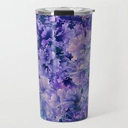 Hibiscus Flower Pattern Travel Mug