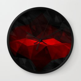 Pop of Red Wall Clock