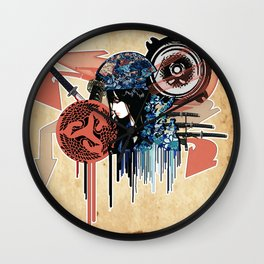 my sound style's hidden by leaves... by rmd Wall Clock
