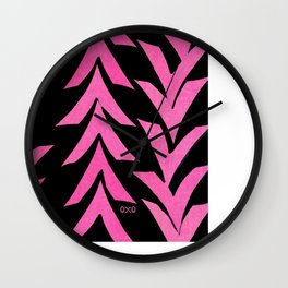 Pink V Wall Clock
