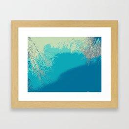 Blue fall Framed Art Print