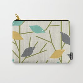 Mid Century Modern Birdsong Carry-All Pouch