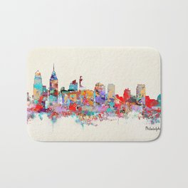 Philadelphia Pennsylvania skyline Bath Mat
