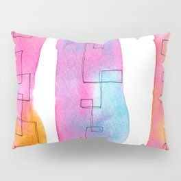 Love Is Always There line ink watercolor abstract painting minimal  Pillow Sham