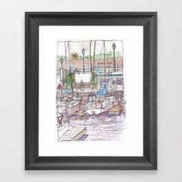 Resting at the Pier Framed Art Print