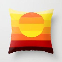 Sunset Stripe Throw Pillow